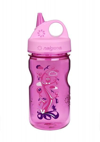 """Trinkflasche Grip'n Gulp 375 ml """"Woodland"""", Tritan pink"""