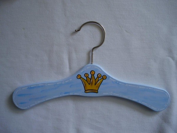 "Kleiderbügel ""Krone blau"""