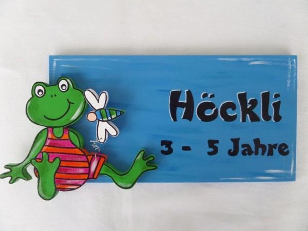 """Türschild """"Frosch"""""""