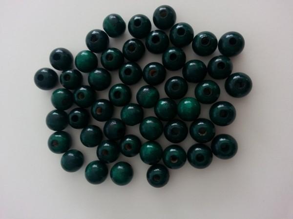 Holzperlen dunkelgrün (10 mm)