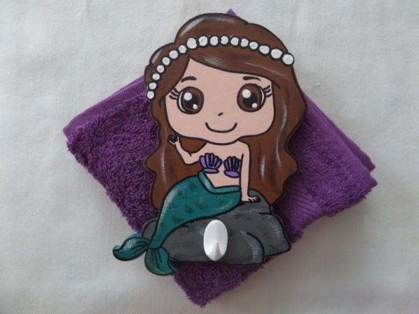 """Waschlümpli Haken """"Meerjungfrau violett"""""""