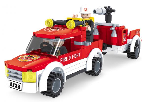 AUSINI Feuerwehr Jeep mit Anhänger