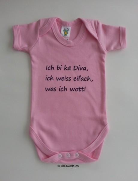 """Baby Body bedruckt mit Spruch """"Ich bi kei Diva..."""""""