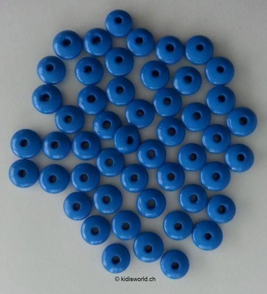 Holzlinsen mittelblau (10 mm)