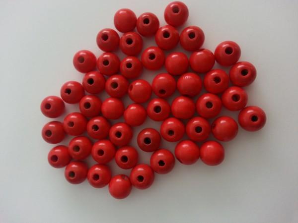 Holzperlen rot (10 mm)