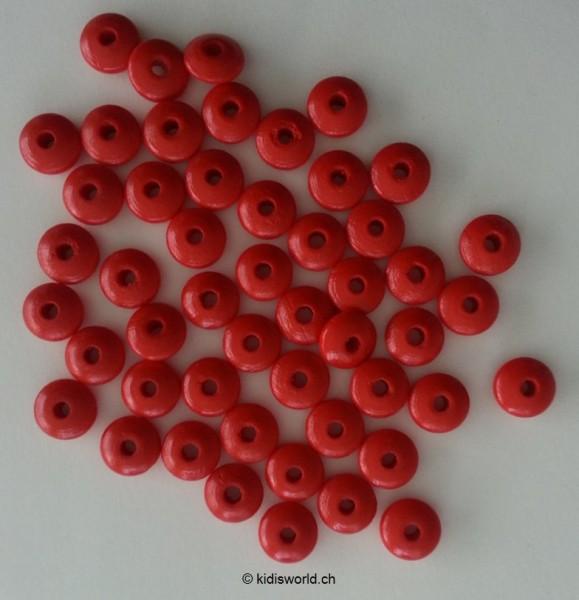 Holzlinsen rot (10 mm)