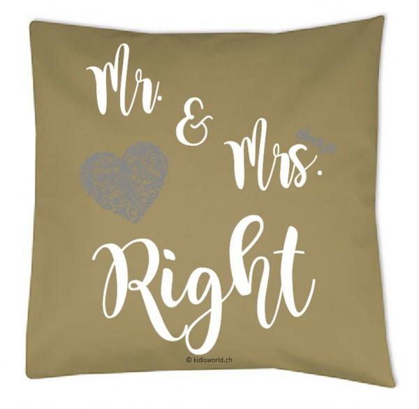 "Kissen ""Mr. & Mrs. Right"""