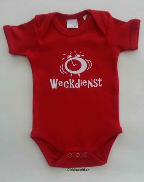 "Baby Body bedruckt ""Weckdienst"""