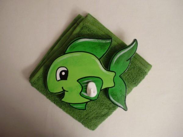 """Waschlümpli Haken """"Fisch grün"""""""