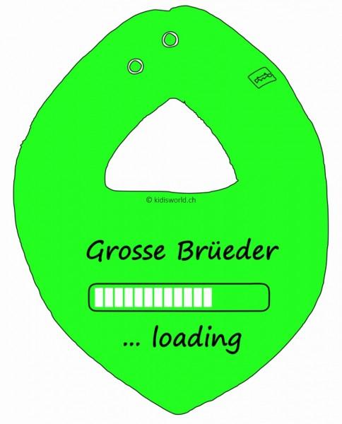 """Dreieckstuch bedruckt mit Spruch """"Grosser Bruder"""""""