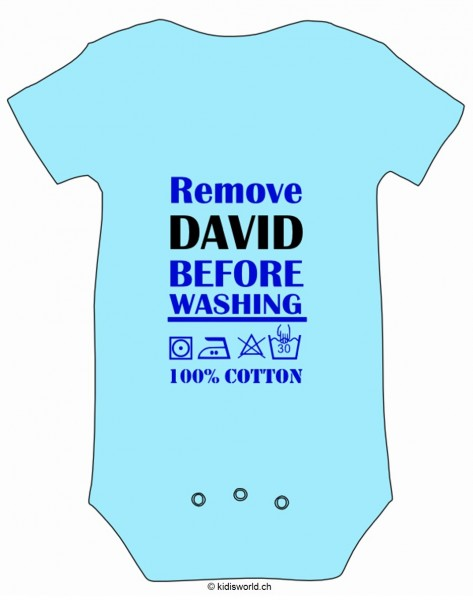 "Baby Body bedruckt ""Remove Baby before washing"""