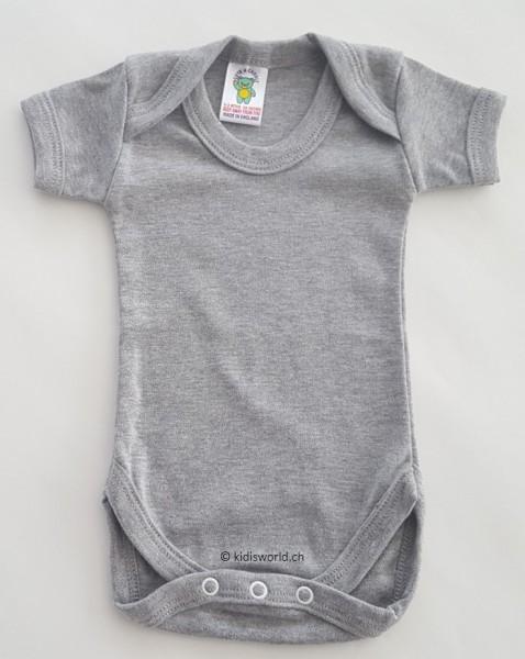 Baby Body grau, kurz-/langarm