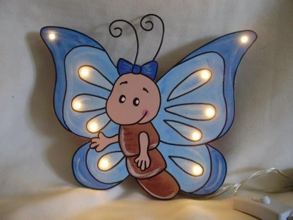 """Schlummerlampe """"Schmetterling blau"""""""