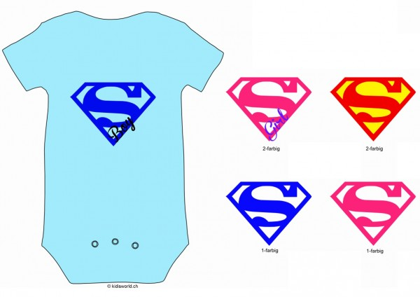 "Baby Body bedruckt ""Super GIRL"""