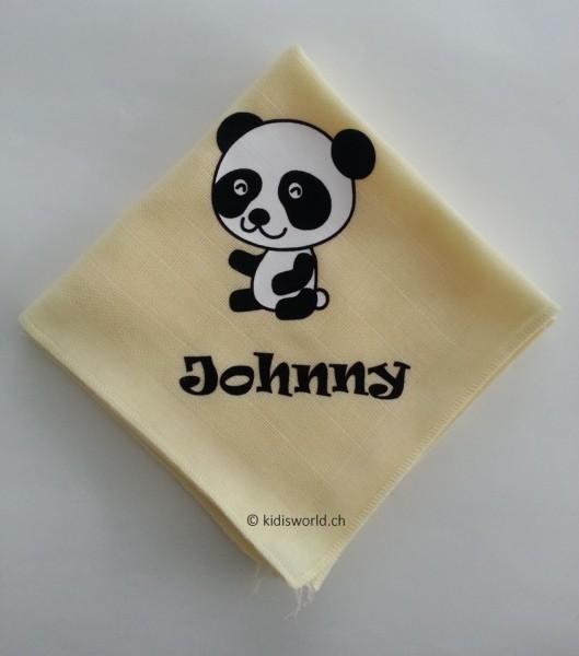 """Nuscheli bedruckt mit Motiv """"Panda"""""""