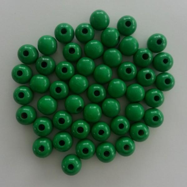 Holzperlen hellgrün (10 mm)