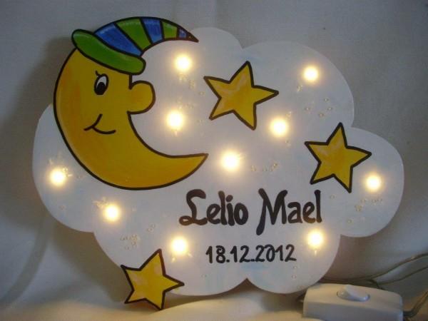 """Schlummerlampe """"Sternenhimmel mit Mond"""""""