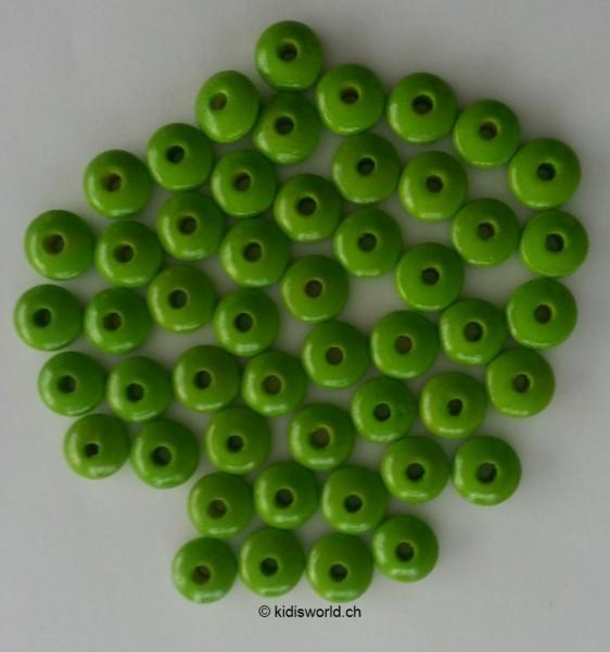 Holzlinsen gelbgrün (10 mm)