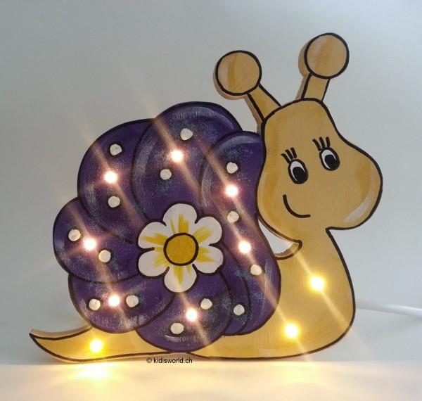 """Schlummerlampe """"Schnecke lila"""""""