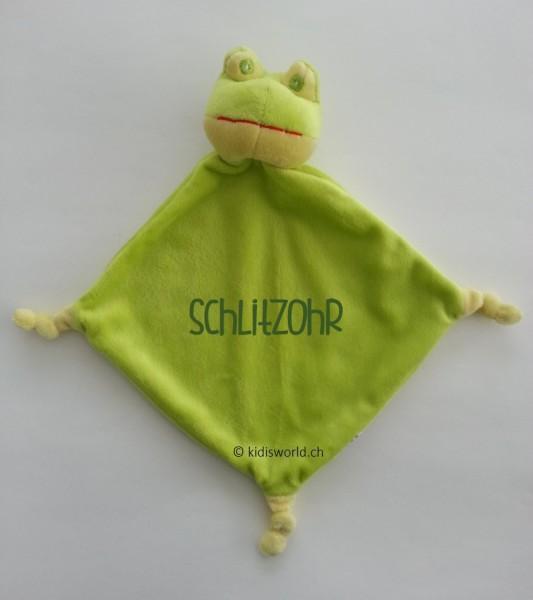 "Schnuffeltuch ""Frosch"", bedruckt mit Namen"